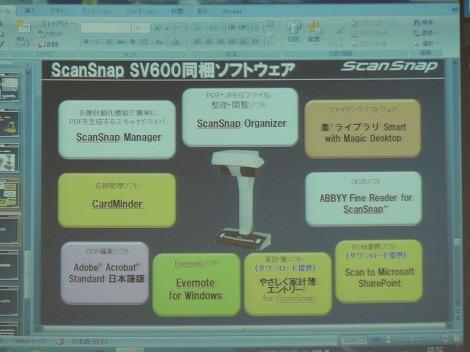 SV600同梱ソフト
